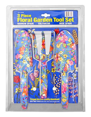 3 - pc. Floral Garden Tool Set - Flower