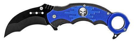 "5"" Karambit Tactical Fighting Pocket Knife - Blue"