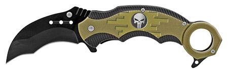 "5"" Karambit Tactical Fighting Pocket Knife - Black"
