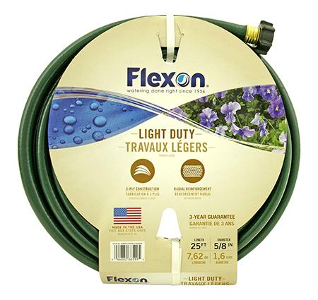 "25' Light Duty 3 Ply 5/8"" Flexon Garden Hose - Green"