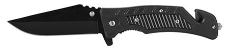 "4.75"" Emergency Rescue Folding Pocket Knife - Black"