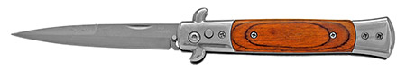"""5"""" Spring Assisted Switchblade - Wooden"""