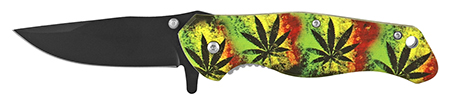 ''4.75'''' Quick Access Folding Pocket Knife - Mary Jane TIE DYE''