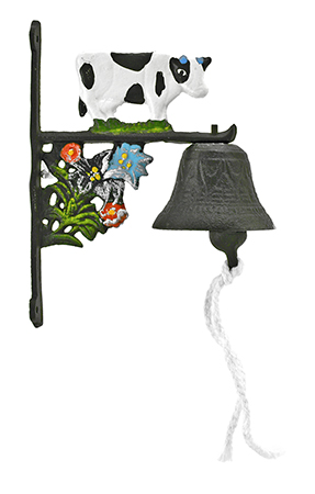 ''3'''' Cast Iron Cow Rope Pull Vintage DOORBELL - Valley''