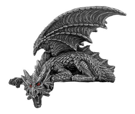 "6.5"" Silent Sentinel Dragon Gargoyle Statue Figurine - DWK"
