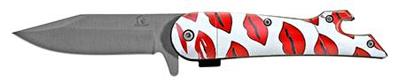 "4.5"" Fisherman's Folding Pocket Knife - Loving Lips"