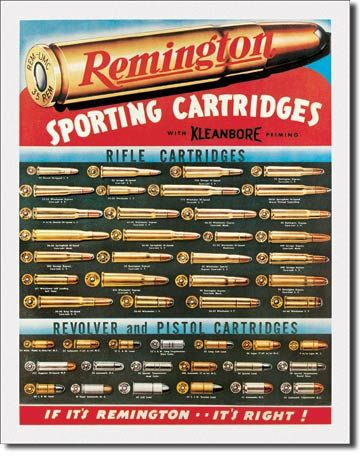 Remington Sporting Cartridges Tin Sign
