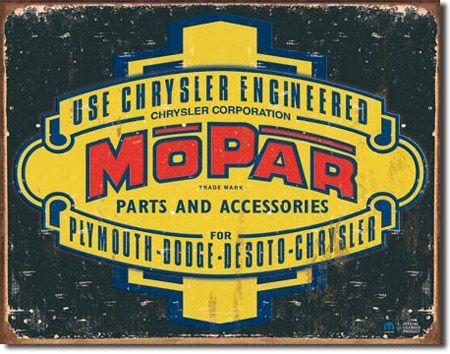 Mopar Parts and Accessories Tin Sign