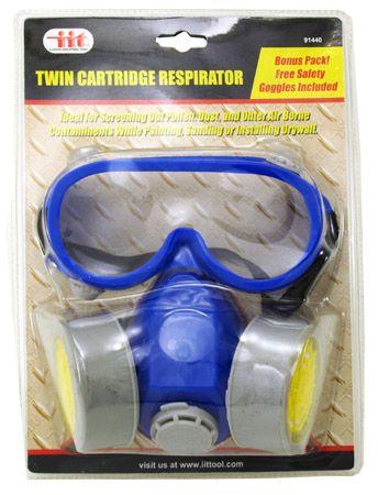 Twin Cartridge Respirator with Goggles