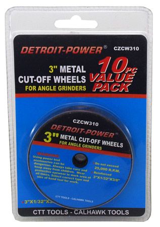 "10-pc. 3"" Metal Cut-Off Wheels"
