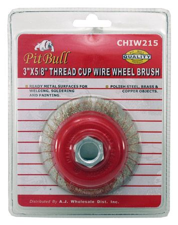 "3"" x 5/8"" Thread Cup Wire Wheel Brush"