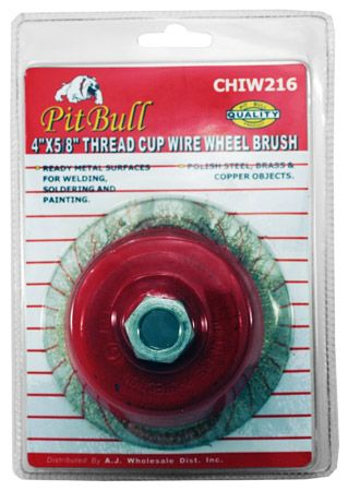 "4"" x 5/8"" Thread Cup Wire Wheel Brush"