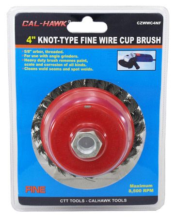 """4"""" Knot Type Wire Cup Brush"""