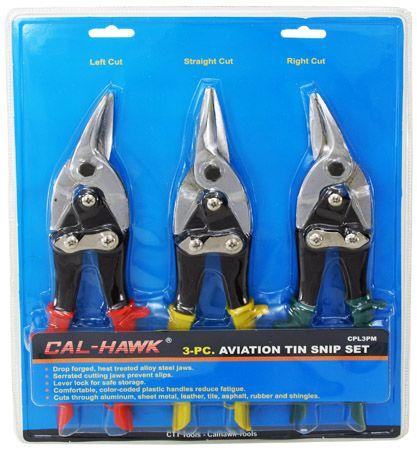 3-pc. Aviation Tin Snip Set