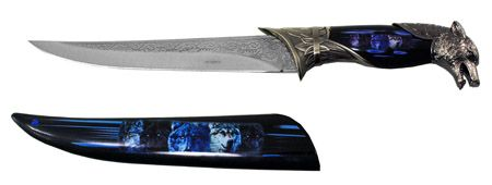 "8"" Wolf Knife - Black"