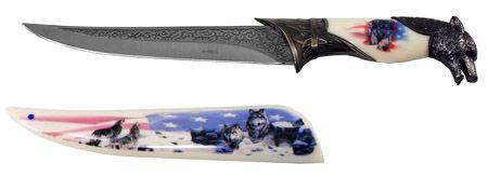 "8"" Wolf Knife - White"