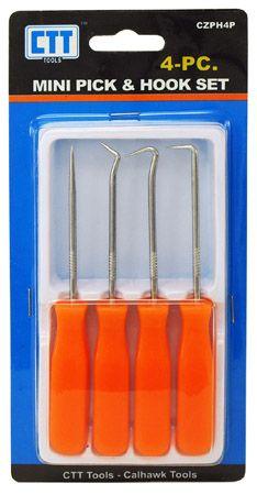 4-pc. Mini Pick & Hook Tool Set