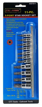 11-pc. 5-Point Torx Socket Set