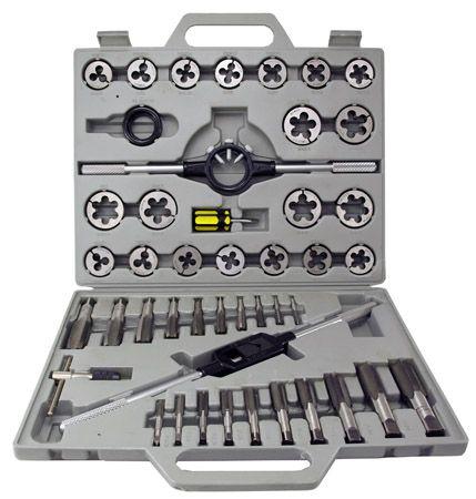 45-pc. Tungsten Steel Tap & Die Set - SAE