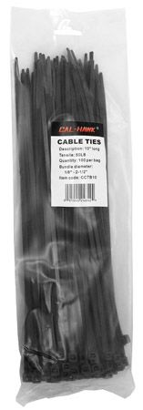 "100-pc. 10"" Black Zip Cable Ties"