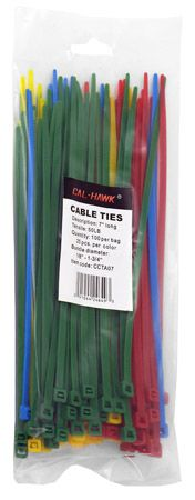 "100-pc. 7"" Colored Zip Cable Ties"