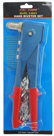 60-pc. 2-Way Hand Riveter Set