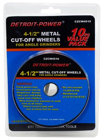 "10-pc. 4-1/2"" Metal Cut Off Wheels"