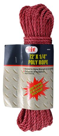 "72' x 1/4"" Poly Rope"