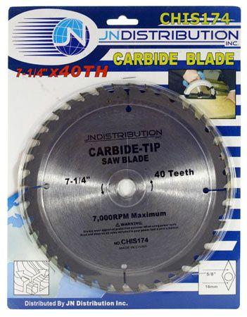 """7-1/4"""" Carbide Circular Saw Blade"""