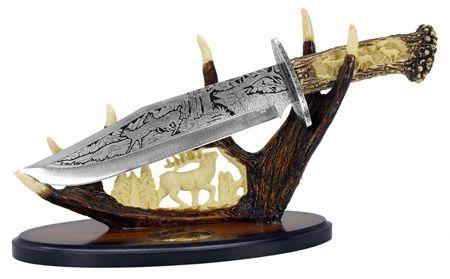 """15"""" Deer Knife w/Display Base"""