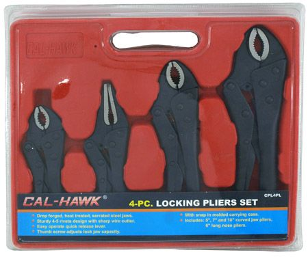 4-pc. Locking Pliers Set