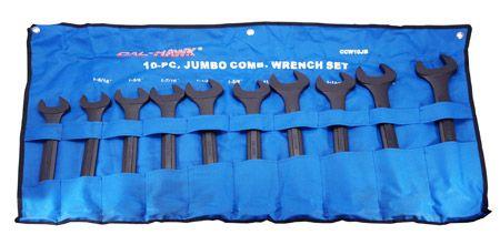 10-pc. Jumbo Combination WRENCH Set - SAE