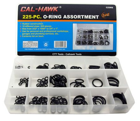 225-pc. O-Ring Assortment - SAE