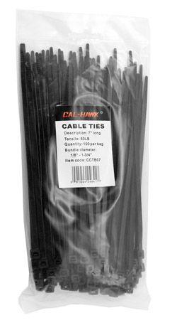 "100-pc. 7"" Black Zip Cable Ties"