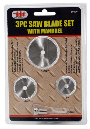 3-pc. Saw Blade Set with Mandrel