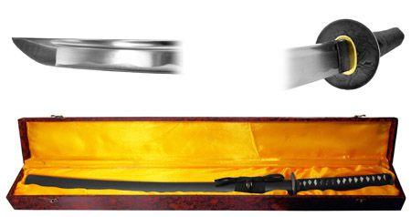 Hand Honed Samurai Sword - Black