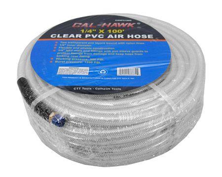 """1/4"""" x 100' Clear PVC Air Hose"""