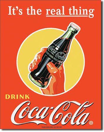 "Coca Cola ""Real Thing"" Tin Sign"