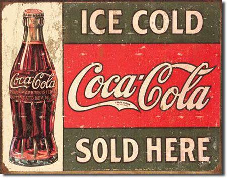 ''COCA-COLA ''''Ice Cold'''' Tin Sign''