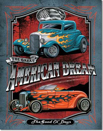 American Dream Tin Sign