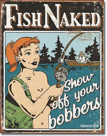 Bobbers Tin Sign