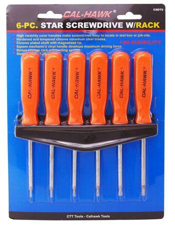 6-pc. Torx Screwdriver Set w/Rack