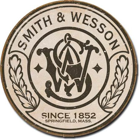 Smith & Wesson Tin Sign