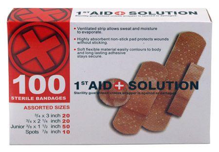 100-pc. Sterile Bandages