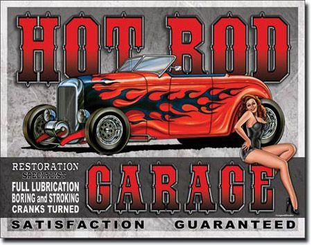 Legends - Hot Rod Garage Tin Sign