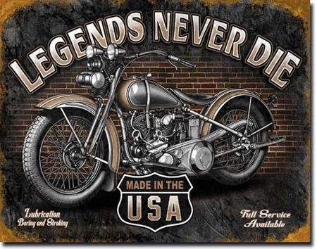 Legends - Never Die Tin Sign