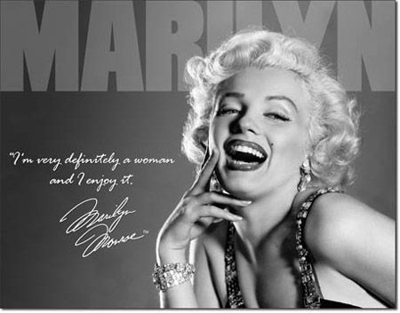 "Marilyn Monroe - ""Definitely"" Tin Sign"