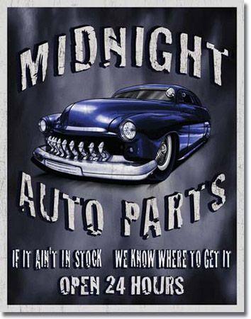 Legends - Midnight Auto Parts Tin Sign