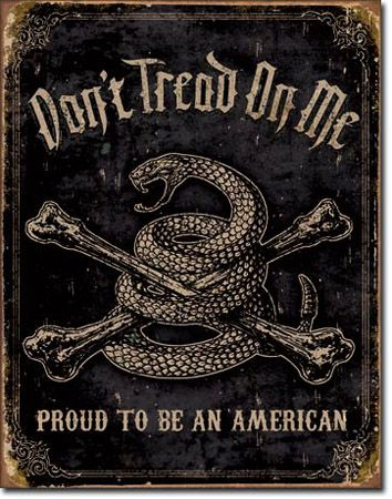 Proud American Tin Sign