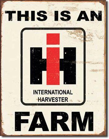 IH Farm Tin Sign